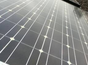 Eine Solarzelle