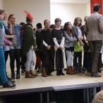 """Mit """"Robin Hood"""" und der 6c auf neuer Probebühne der Schule"""